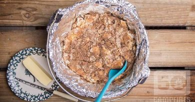 Dutch Oven Bread Pudding With Jack Daniels Sauce